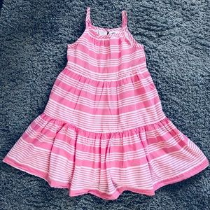 Pink & white Stripped toddler girl dress.